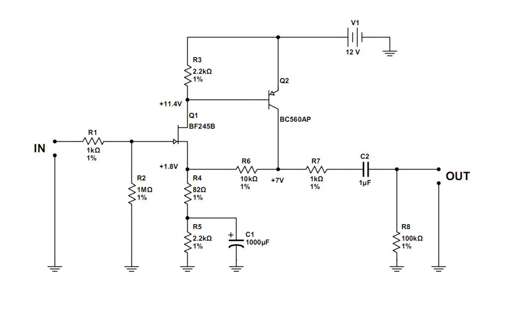 simpe jfet preamp