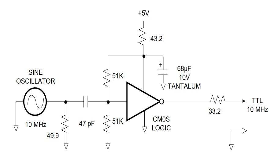 LPRO-101 sine to TTL conversion. This is the recommended schematic.