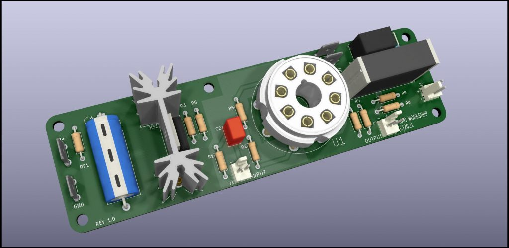 6SN7 PREAMP. DN2540N5, IXCP10M45S. PCB_3D